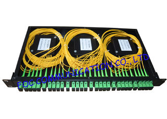 Rack Mount Fiber PLC Splitter Patch Panel SC / APC With 6pcs of 1 * 4 Splitter