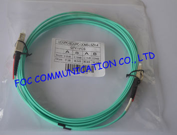 10Gb OM3 LSZH LC SC Single Mode Fiber Patch Cable For Telecommunication Networks